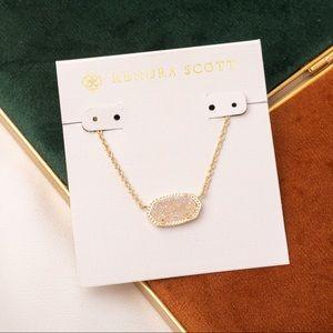 Kendra Scott Elisa gold necklace iridescent drusy